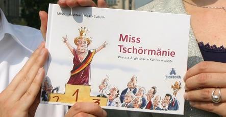 Merkel comic book sells out