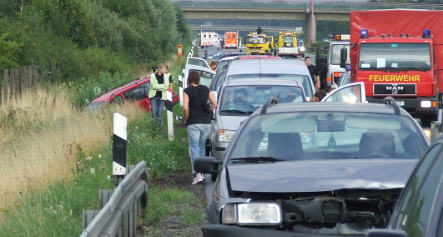 Dozens injured in 259-car autobahn pileup