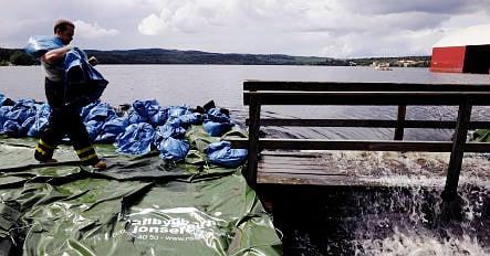 Dam nears breaking point in central Sweden