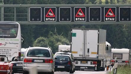 Autobahn plagued by chronic traffic jams