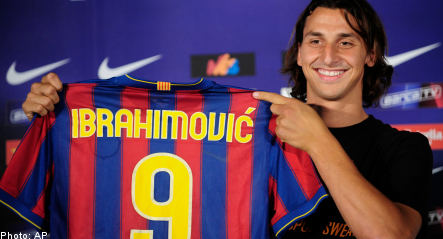 Ibrahimovic finally signs 'dream' contract with Barcelona