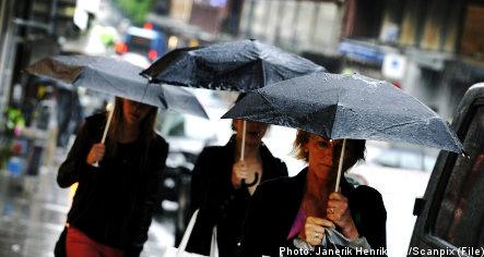 Heavy Baltic rains heading for Sweden