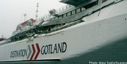 Swedish ferry crash: 'everything shook'