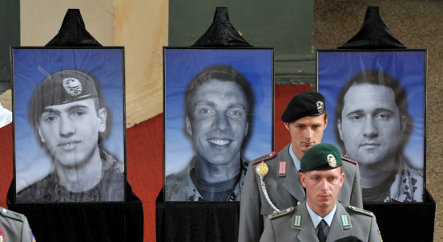 Funeral held for three soldiers killed in Afghanistan