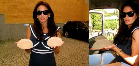 Swedish TV presenter sells breast implants