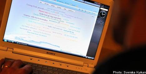 Swedish church launches online prayer service