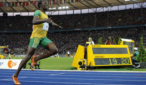 Bolt repeats world record sprint feat in Berlin