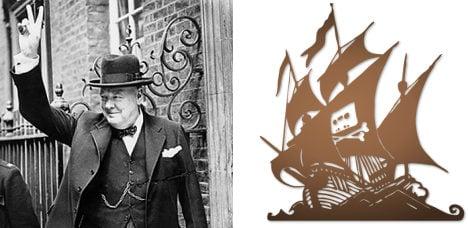 Pirate Bay cites Churchill in online comeback