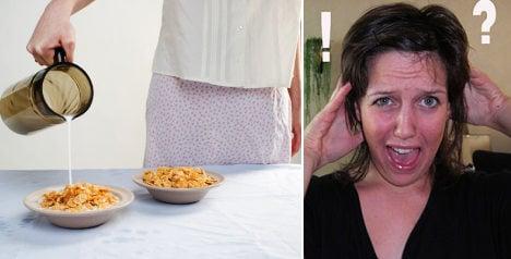 Swedish woman in porn flakes breakfast shock