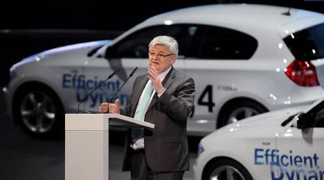 Joschka Fischer working with BMW