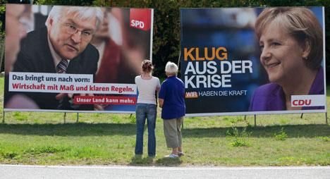 Merkel and Steinmeier square off in TV debate