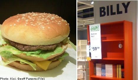 Billy bookshelf does battle with Big Mac Index