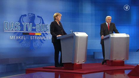 Merkel and Steinmeier choose TV duet over duel