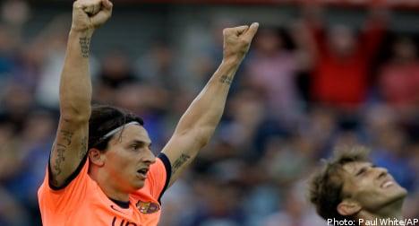 Ibrahimovic goal leaves Barca top