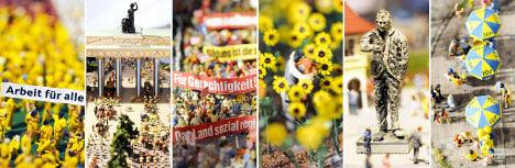 German parties present miniature political utopia in Hamburg