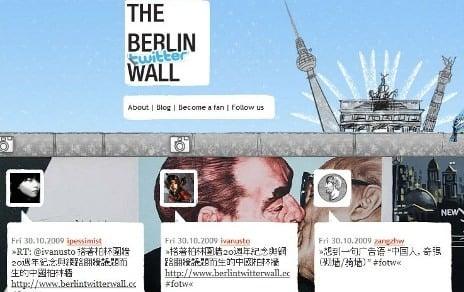 China blocks Berlin Wall anniversary Twitter site