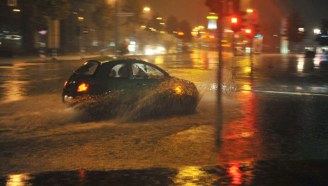 Heavy rainstorms flood streets overnight