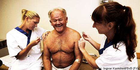 Fewer Swedes want swine flu vaccine