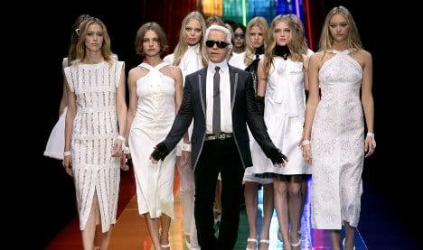 Skinny models just look better, says Karl Lagerfeld