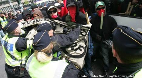 Left-wing activists held over Stockholm car fires