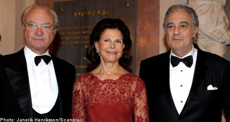 Placido Domingo accepts Swedish opera prize