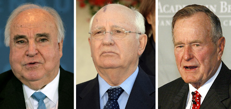 Bush senior to meet Kohl and Gorby in Berlin