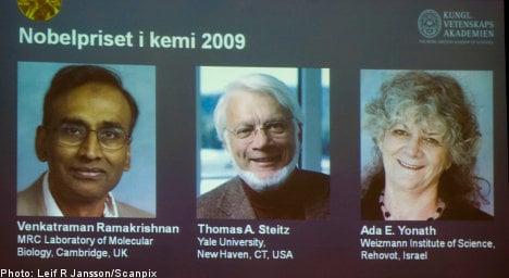 Three to split Nobel chemistry prize