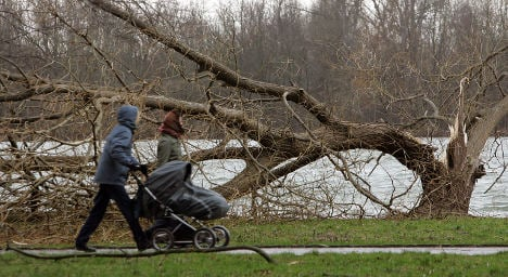 Heavy wind storms rage through Germany