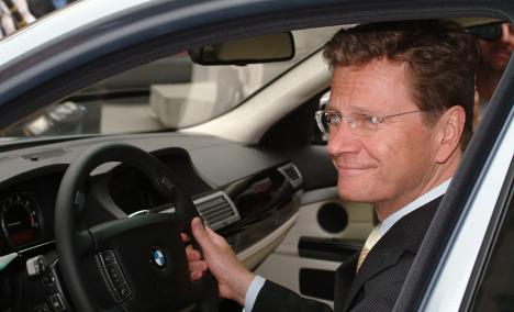 Vandals target Westerwelle's car