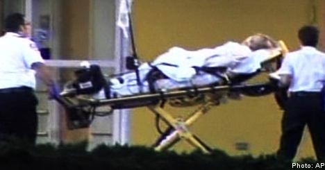 Barbro Holmberg rushed to Florida hospital