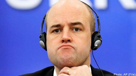 Opposition poll lead 'very worrying': Reinfeldt