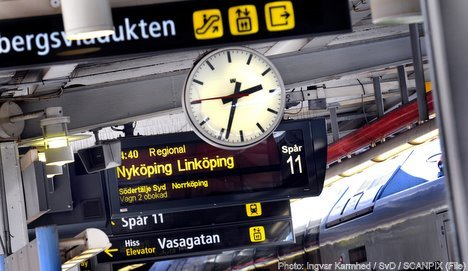 Train delays in Stockholm due to winter weather