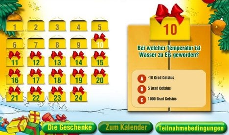 Online Advent calendars collecting children's personal information