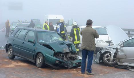 Fifty-car pileup injures 16 in Bavaria