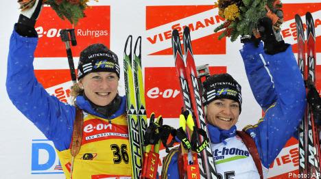 Swedish one-two in World Cup biathlon sprint