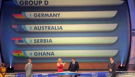 Germany faces Australia, Ghana and Serbia