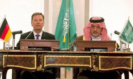Westerwelle debates human rights with Saudis