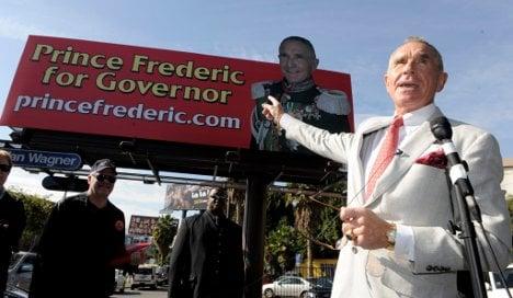German 'prince' hopes to become governor of California