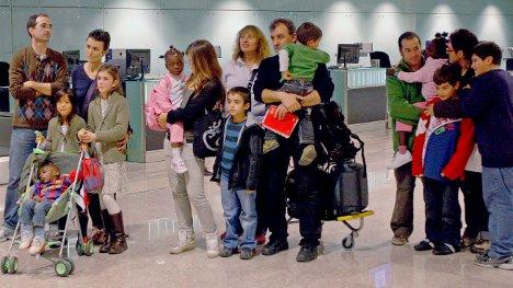 Haitian children arrive in Frankfurt for adoption