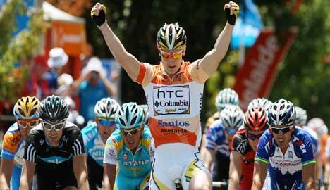 German cyclist wins second Tour Down Under