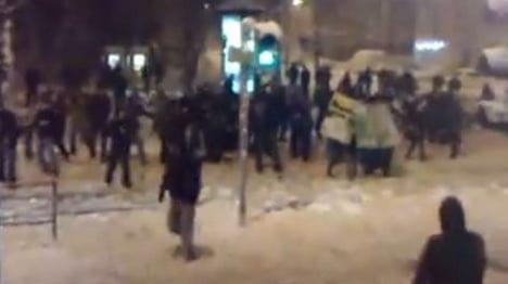 Massive snowball fight descends into chaos in Leipzig