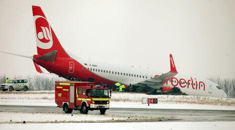 Air Berlin jet skids off Dortmund runway