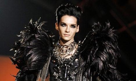 Italian media dubs Bill Kaulitz a 'black angel' after catwalk debut