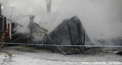 School destroyed in suspected case of arson