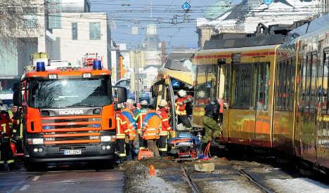 Tram collision injures 27 in Karlsruhe
