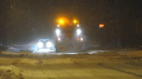 Snowstorm mangles traffic across Germany