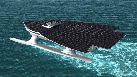 Futuristic solar yacht set for voyage around the world