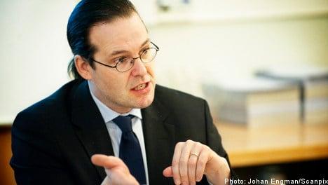 Sweden's Borg talks tough on Greece debt