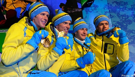 Swedes strike gold in cross country relay