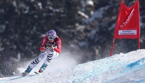 Riesch leaves Vonn behind in blistering Garmisch downhill run